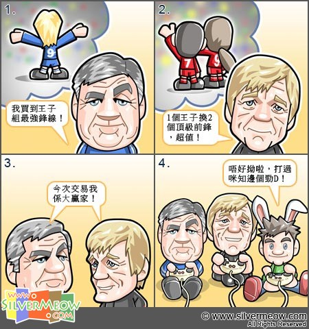 Football Comic Feb 11 - Liverpool and Chelsea:Carlo Ancelotti, Kenny Dalglish