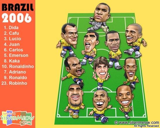 Wwwsilvermeowcom Download Brazil Football Team 2006 Wallpaper