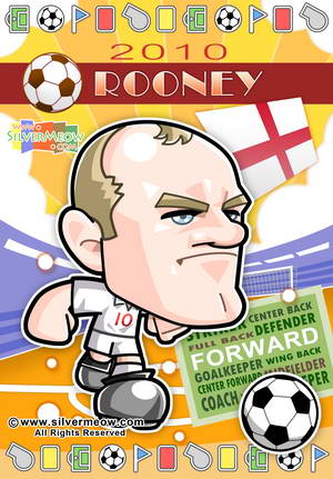 Soccer Toon Poster 2010 - Wayne Rooney (England)