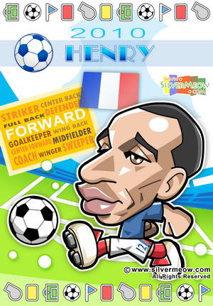 Soccer Toon Poster 2010 - Thierry Henry (France)