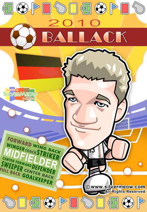 Soccer Toon Poster 2010 - Michael Ballack (Argentina)