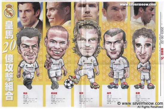 Five Stars of Real Madrid 2003