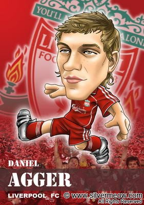 Soccer Player Caricature - Daniel Agger (Liverpool)