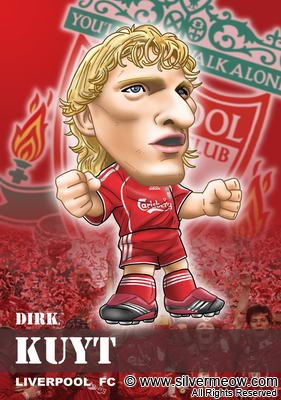 Soccer Player Caricature - Dirk Kuyt (Liverpool)