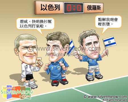 Football Comic Nov 07 - Israel, Please Help:David Beckham, Steven Gerrard, Michael Owen