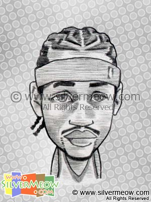 NBA Player Caricature - Allen Iversion