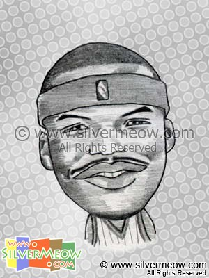 NBA Player Caricature - Jermaine O'Neal
