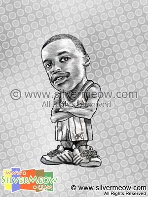 NBA Player Caricature - Steve Francis
