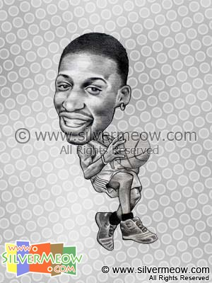 NBA Player Caricature - Tracy McGrady