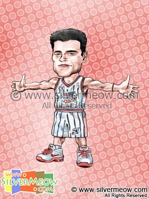 NBA Player Caricature - Yao Ming
