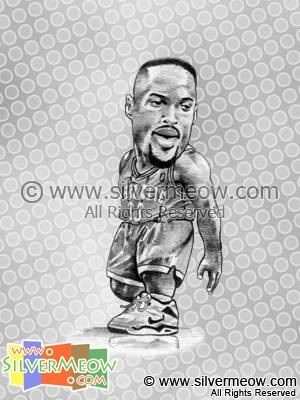 NBA Player Caricature - Alonzo Mourning