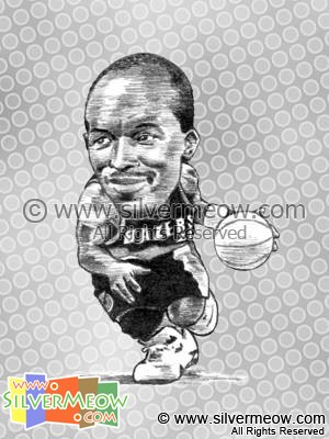 NBA Player Caricature - Clyde Drexler
