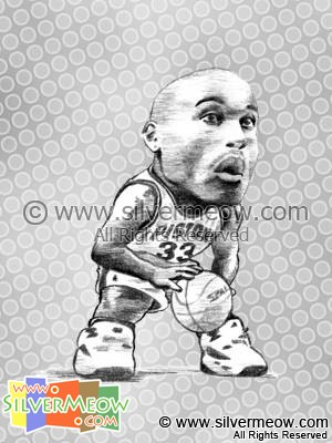 NBA Player Caricature - Grant Hill