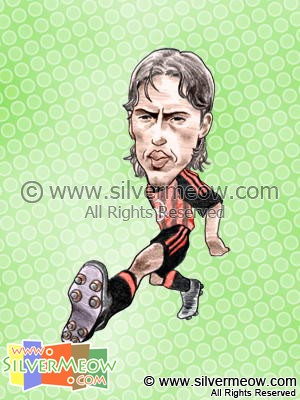 Soccer Player Caricature - Filippo Inzaghi (AC Milan)