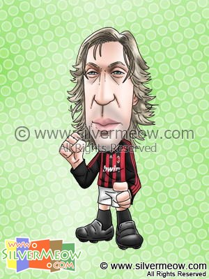 Soccer Player Caricature - Andrea Pirlo (AC Milan)