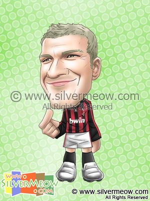 Soccer Player Caricature - David Beckham (AC Milan)