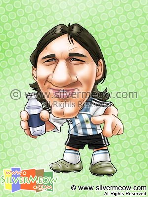 Soccer Player Caricature - Lionel Messi (Argentina)