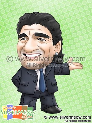 Soccer Player Caricature - Diego Maradona (Argentina)