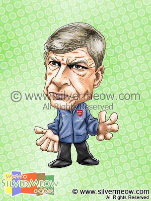 Soccer Player Caricature - Arsene Wenger (Arsenal)