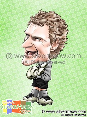 Soccer Player Caricature - Jens Lehmann (Arsenal)