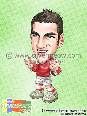 Soccer Player Caricature - Cesc Fabregas (Arsenal)