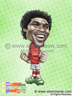 Soccer Player Caricature - Emmanuel Adebayor (Arsenal)
