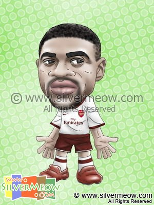 Soccer Player Caricature - Kolo Toure (Arsenal)