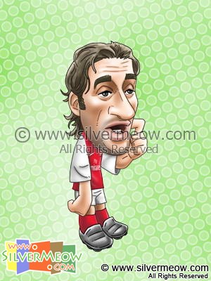 Soccer Player Caricature - Mathieu Flamini (Arsenal)