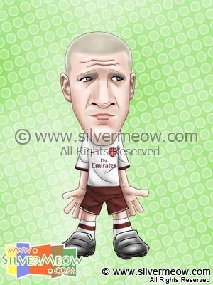 Soccer Player Caricature - Philippe Senderos (Arsenal)