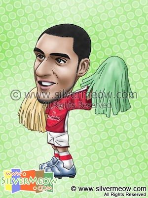 Soccer Player Caricature - Theo Walcott (Arsenal)