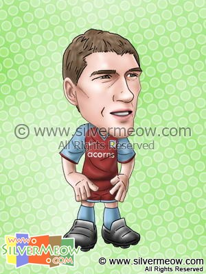 Soccer Player Caricature - Gareth Barry (Aston Villa)