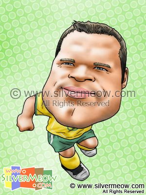 Soccer Player Caricature - Mark Viduka (Australia)