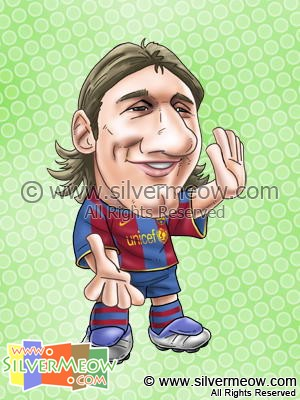 Soccer Player Caricature - Lionel Messi (Barcelona)