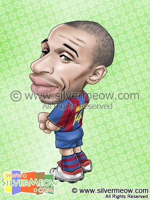 Soccer Player Caricature - Thierry Henry (Barcelona)