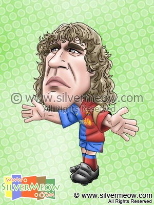 Soccer Player Caricature - Carles Puyol (Barcelona)
