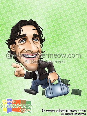 Soccer Player Caricature - Luca Toni (Bayern Munich)