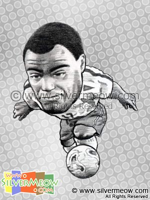 Soccer Player Caricature - Denilson (Brazil)