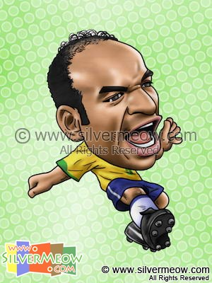 Soccer Player Caricature - Emerson (Brazil)