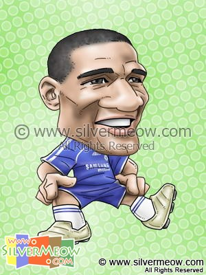 Soccer Player Caricature - Florent Malouda (Chelsea)