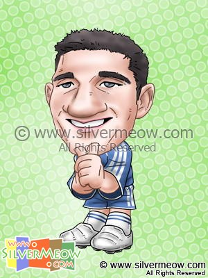 Soccer Player Caricature - Frank Lampard (Chelsea)