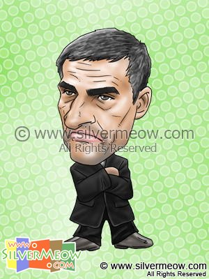 Soccer Player Caricature - Jose Mourinho (Chelsea)