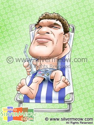Soccer Player Caricature - Michael Ballack (Chelsea)