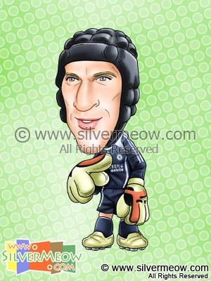 Soccer Player Caricature - Petr Cech (Chelsea)