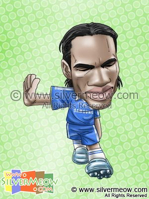 Soccer Player Caricature - Didier Drogba (Chelsea)