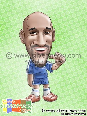 Soccer Player Caricature - Nicolas Anelka (Chelsea)