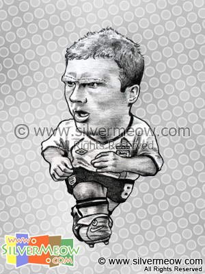 Soccer Player Caricature - Paul Scholes (England)