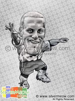 Soccer Player Caricature - Rio Ferdinand (England)