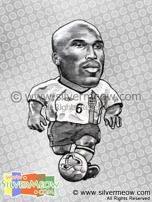 Soccer Player Caricature - Sol Campbell (England)
