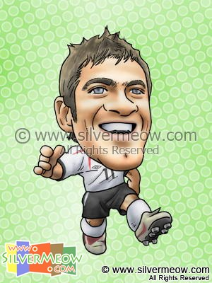 Soccer Player Caricature - Joe Cole (England)