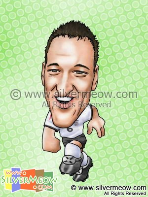 Soccer Player Caricature - John Terry (England)